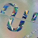 Super Shiny Holographic Foil Business Card Design