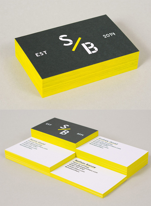 Minimalist black and white business card design with bright yellow minimalist black and white business card design with bright yellow edge painting reheart Choice Image
