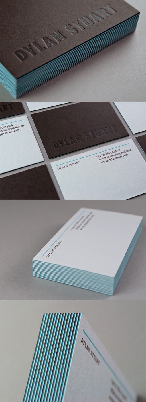 Sophisticated Minimalist Letterpress Business Card Design