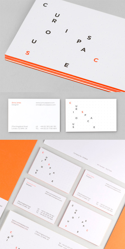 Creative Textured Edge Painted Business Card Design