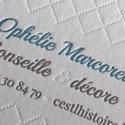 Elegant Textured Letterpress Edge Painted Business Card For A Designer