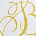 Elegant Hand Drawn Monogram Logo Edge Painted Business Card