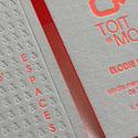 Textured Neon Edge Painted Letterpress Business Card Design