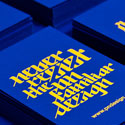 Bold High Contrast Business Cards With Interesting Typography