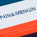 Bold Neon Edge Painted Business Card Design With Bespoke Typography