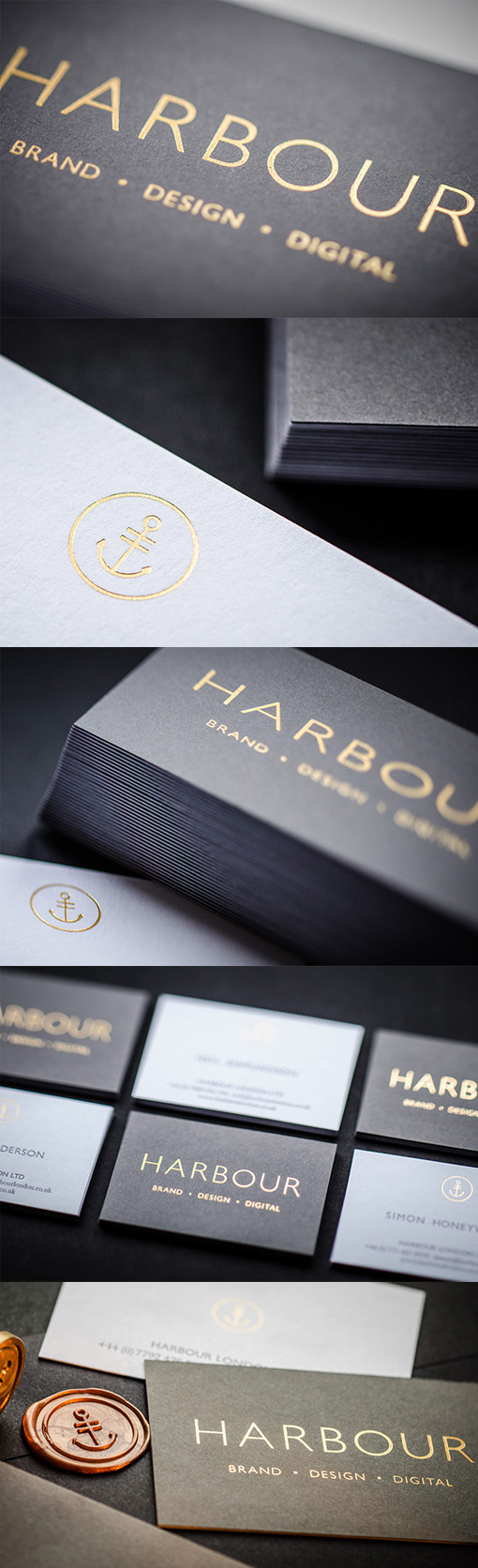 Stylish and professional gold foiled black and white for Black and white business card design