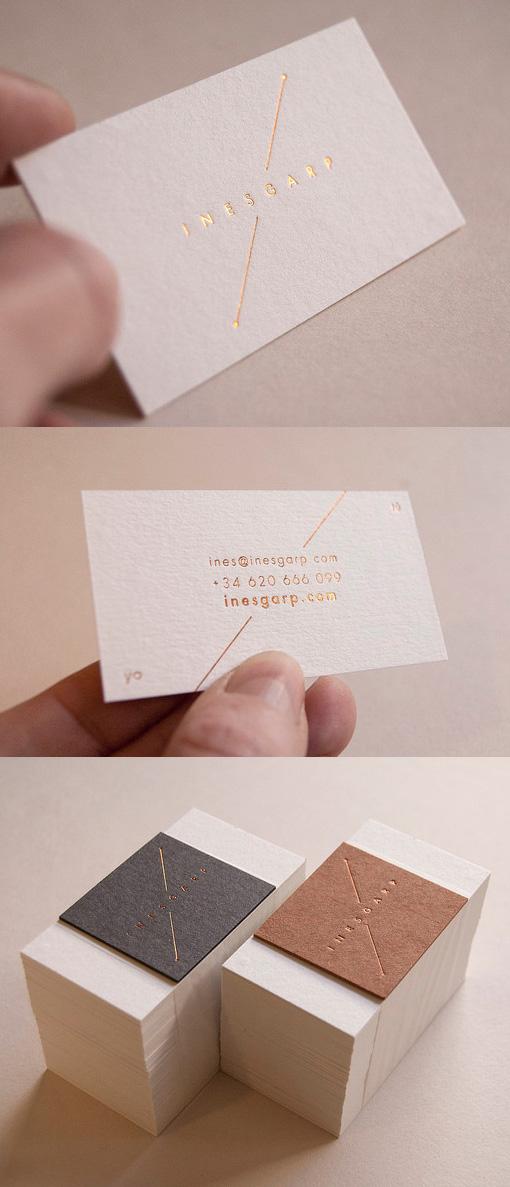 Elegant Understated Gold Foil Business Card Design