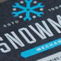 Creative Silver And Black Silk Screened Business Card Design
